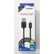 Cable USB-C 3meter (DOBE) For PS5 & Nintendo Switch
