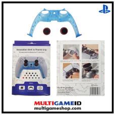 PS5 Dualsense Decorative Shell & Thumb Grip (Clear Blue)