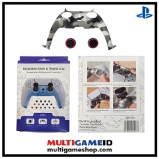 PS5 Dualsense Decorative Shell & Thumb Grip (Camo Black)