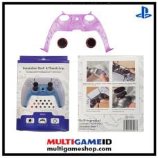 PS5 Dualsense Decorative Shell & Thumb Grip (Clear Purple)