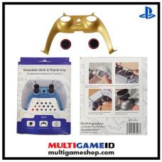 PS5 Dualsense Decorative Shell & Thumb Grip (Gold)