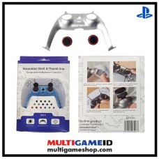 PS5 Dualsense Decorative Shell & Thumb Grip (Silver)