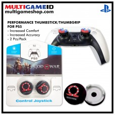 PS5/PS4 Performance Thumb Grips God of War Black/Red