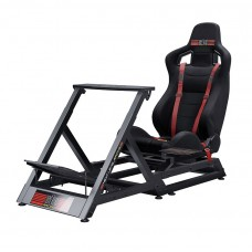 (New!!) Next Level Racing GT Track Simulator Seat + Steering Wheel Stand + Gearshift Holder Bundle