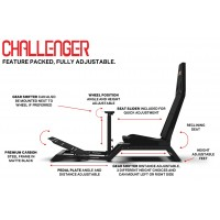 (New!!) Next Level Racing Challenger + Steering Wheel Stand + Gearshift Holder Bundle