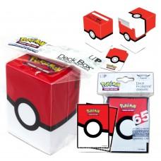 Pokemon Card POKEBALL Deck Box +Sleeve 65 pcs