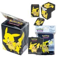 Pokemon Card PIKACHU Deck Box +Sleeve 65 pcs