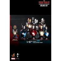 HTB 14-20 Iron Man 3 Deluxe Set Of 8 Bust 17553-9