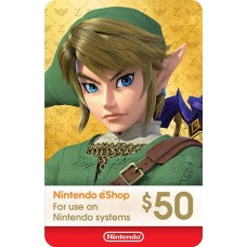 Nintendo eCard USD 50 (Fisik Card) (Ready)