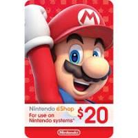 Nintendo eCard 20 USD (Fisik Card)