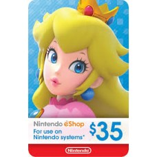 Nintendo eCard 35 USD (Fisik Card) (Ready)