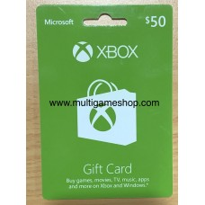 Xbox Live USD 50,- (Physical Card)