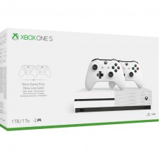 Xbox One S 1TB 2Pcs Wireless Controller Bundle (White)