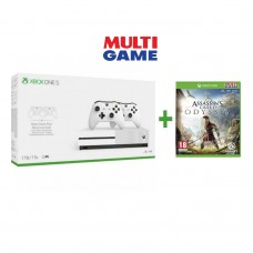Xbox One S 1TB 2Pcs Wireless Controller Bundle (White) + Game Fisik Assassin Odyssey