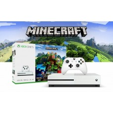 Xbox One S 500GB White Minecraft Favourites Bundle + Bonus DLC 2Extra Games + Extra Wireless Controller