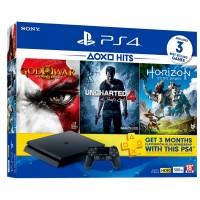 PS4 Slim 500GB (CUH-2106A) Jet Black Hits Bundle II + (3Games+PSN 3bln)
