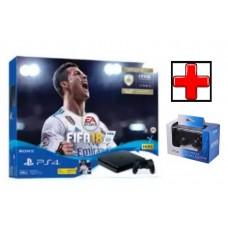 PS4 Slim 500GB (CUH-2106A) Bundle FIFA 18 (Game Fisik & Icons + PSN 3Bulan) Extra New DS4 Pilih Warna
