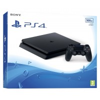 PS4 Slim 500GB (CUH-2106A) Jet Black +Game Project Cars 2 (R3)
