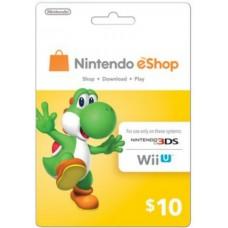 Nintendo eCard 10 USD (Fisik Card)