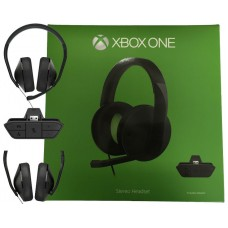 Xbox One Stereo Headset + Headset Adapter + USB Cable