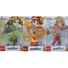 Ken+Daisy+Link Super Smash Bros Amiibo