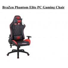 BraZen Phantom Elite PC Gaming Chair (Red/Blue/White)