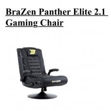 BraZen Panther Elite 2.1 Bluetooth Surround Sound Gaming Chair (Red/Blue/White)