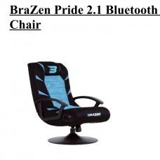 BraZen Pride 2.1 Bluetooth Surround Sound Gaming Chair (Red/Blue/White)