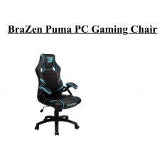BraZen Puma PC Gaming Chair (Red/Blue/White)