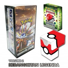 Pokemon TCG Indonesia Kebangkitan Legenda AS2b Booster Box + Starter Deck GX AS2Di (60 cards) +Bonus  Pokeball Dex Box