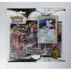 Pokemon TCG SS2 Rebel Clash 3Blister +Pin