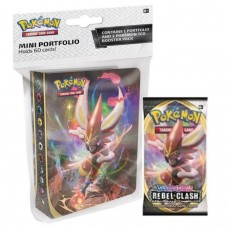 Pokemon TCG SS2 Rebel Clash Mini Portfolio + Booster Pack