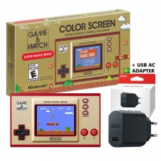 Game & Watch Super Mario Bros +Nintendo USB AC Adaptor