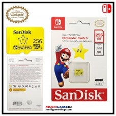 Memory Micro SanDisk 256GB Official For Nintendo Switch (STAR)