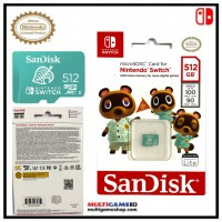 Memory Micro Sandisk 512GB Official For Nintendo Switch (Tom Nook) Animal Crossing New Horizon