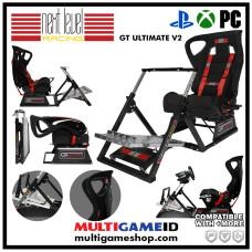 Next Level Racing GT Ultimate Racing Simulator V2 Seat + Steering Wheel Stand + Gearshift Holder Bundle