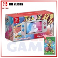 Nintendo Switch Lite Zacian&Zamazenta Pokemon Sword&Shield Edition +Soldam