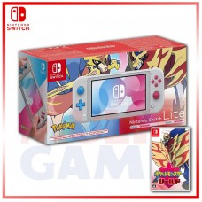Nintendo Switch Lite Zacian & Zamazenta Pokemon Sword/Shield Edition +Pokemon Shield English Jpn Cover