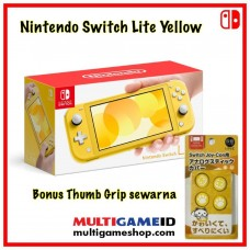Nintendo Switch Lite Yellow +Thumb Grip Yellow