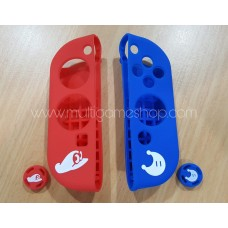 Switch Joycon Rubber Grip Red/Blue Mario Odyssey + Analog Cap