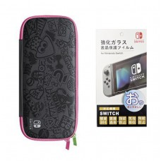 Switch Carrying Case Splatoon (Original) + Tempered Glass 9H (Bag)