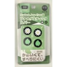 Switch V2/Lite Thumb Grip Dark Flower&Leaf