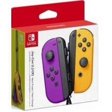 Switch Joycon Left + Right Controller Neon Purple / Neon Orange