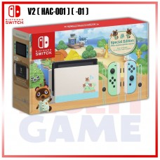 --PO-- New V2 (HAC-001) (01) Nintendo Switch Animal Crossing Limited Edition