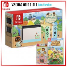 Nintendo Switch V2 (Generation 2) Animal Crossing Limited +Game Catridge Animal Crossing
