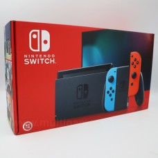 New!! Nintendo Switch Neon Red/Blue (HAC-001)(-01) +Tempered Glass 9H