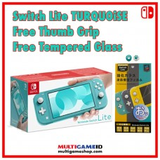Nintendo Switch Lite Turquoise +Thumb Grip +Tempered Glass