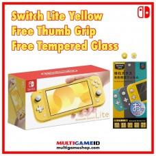 Nintendo Switch Lite Yellow +Thumb Grip +Tempered Glass