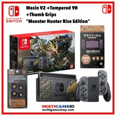 (Promo) Nintendo Switch V2 Monster Hunter Console only +Tempered +Grips