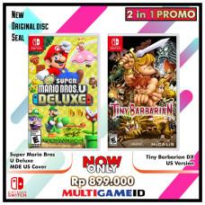 2in1 Super Mario Bros U Deluxe +Tiny Barbarian